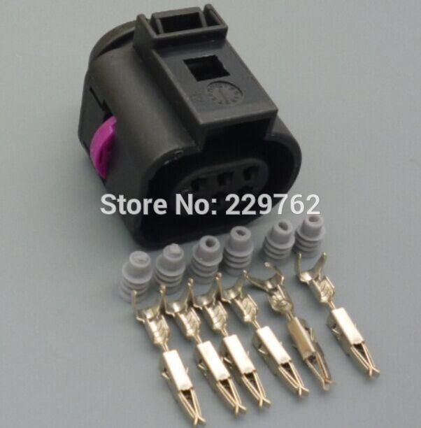imágenes para 10 Sets 6 pin Coches sensor/conector Del Cuerpo Del Acelerador para VW Audi TT VW Jetta Golf MK4 Escarabajo 1J0973713 O2 sensor de $ number vías conector