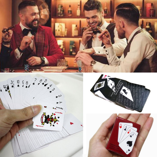 Small Mini Poker Cards Fun Miniature Black/Red Paper Doll House Accessories Doll'S Toys