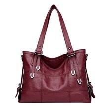 Main Ladies Retro Style Leather Shoulder Bag Casual Tote Bag Ladies Handbags Woman Double Arrows Big Casual Luxury Tote