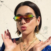 Sunglasses Men Women Fashion One Piece Lens Sun Glasses for Brand 2019 Shades Mirror  personality colorful glasses
