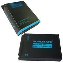ALMA GÊMEA SLB-11A SLB11A SLB 11A pacote de baterias de lítio para Câmera Digital Bateria SLB 11A Para SAMSUNG CL65 HZ25W WB1000 TL320 240