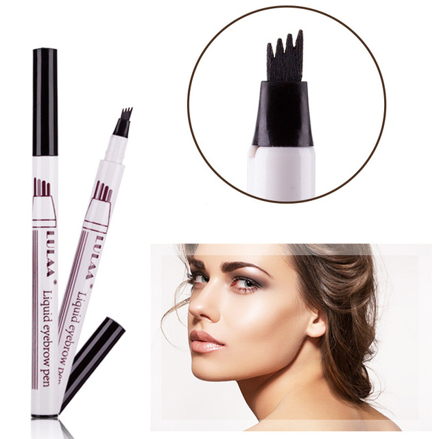 Microblading Tattoo Eyebrow Ink Pen Fork Tip Sketch Enhancer Waterproof Eye Brow Makeup Pencil Hot Mdf 1