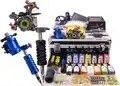 Professionele 2 Machines Tattoo Gun Pen ROTARY Machine Power 14 Kleuren Inkt voetschakelaar Naalden Set met Draagtas Doos