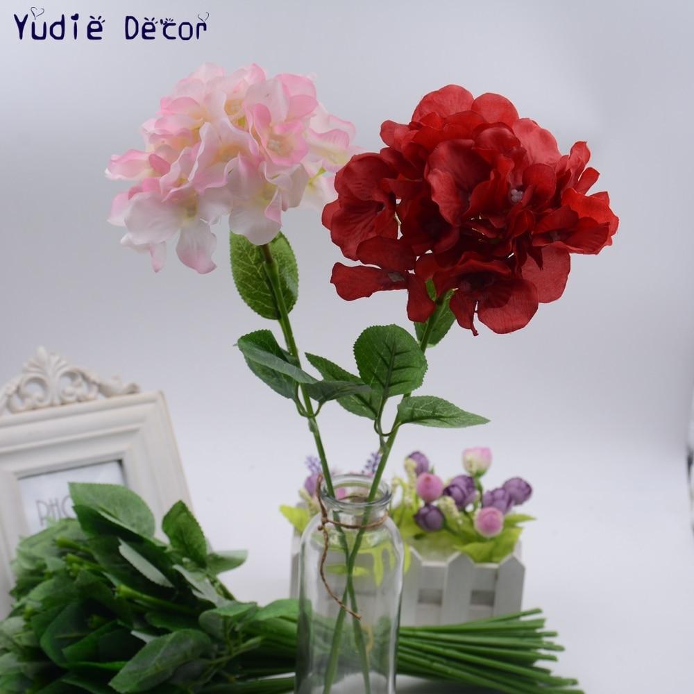 1pcs/lot fragrant big hydrangea wedding party decoration decorative ...