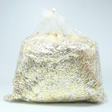 Good Imitation gold leaf/foil flakes -used for nails DIY craft and decoration  75g/bag, silver-gold color,China factory outlet