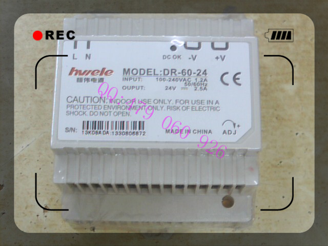[ZOB] Heng Wei guide rail switching power supply 24V2.5A DR-60-24 60W [zob] heng wei switching power supply s 350 24 24v14 6a