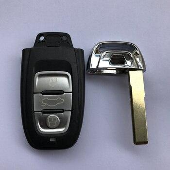 Hitam 3 Tombol Kartu Pintar untuk Audi Q5/A4L 868 MHz/433 MHz/315 MHZ 8T0 959 754C dengan Pisau Yang Belum Diasah Kualitas Yang Sangat Baik