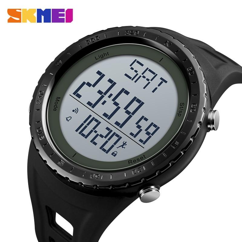 SKMEI Digital Watch Men Top Brand Sport Watch Fitness Calorie Countdown Waterproof Military Electronic Watches Relogio