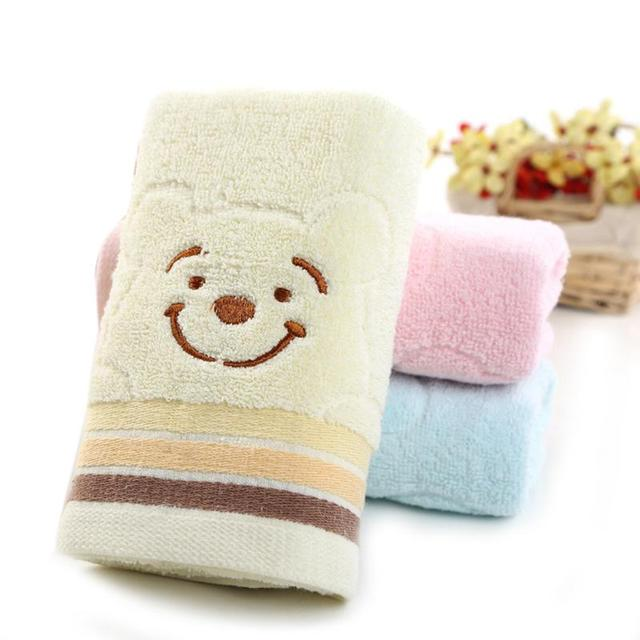 33*74cm Universal Cartoon Embroidered Towel Cute Bear Cotton Wash Cloth  Hand Face Towel Winnie