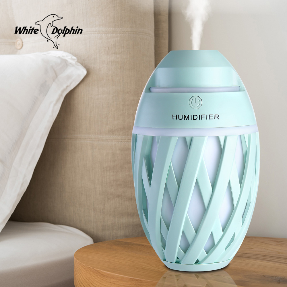 все цены на White Dolphin Mini USB Air Humidifier Essential Oil Diffuser Portable LED Aromatherapy Mist Maker Electric Aroma Diffuser USB онлайн