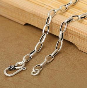 Image 4 - Pure Silver 4mm Thick Flat Circle Cross Link Chain Silver Necklace Sterling 925 Silver Jewelry