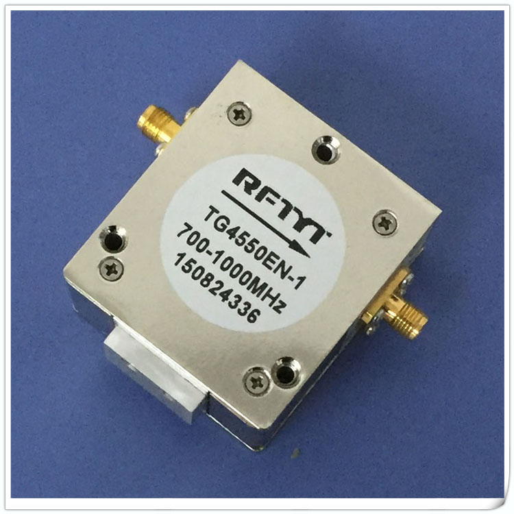 700-1000MHz broadband coaxial SMA joint one-way transmission function ferrite RF isolator700-1000MHz broadband coaxial SMA joint one-way transmission function ferrite RF isolator
