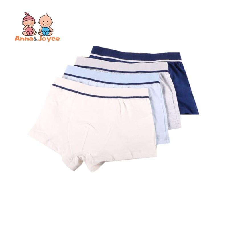 2Pcs/Lot Boys Underwear Pure Color Kids Shorts Panties Cotton Baby Children Boxer for Teenager Underpants 2-10Y 2