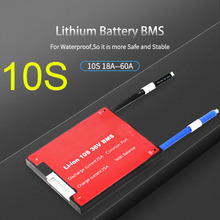 Tablero de protección BMS de baterías de litio Li ion 10S 36V BMS con balance, resistente al agua 18650 lipo 15A 20A 30A 40A 50A 60A, batería de celda