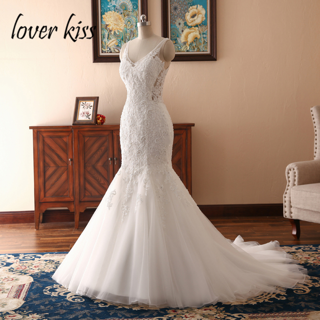 Lover Kiss Boho Robe Mariee Sexy Wedding Dress For Ladies Marriage Party Lace Beaded Bridal Gown