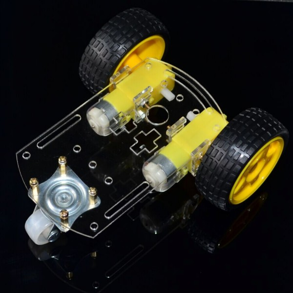 New Arrival Motor Smart Robot Car Chassis /tracing Car Box Kit Speed Encoder Send The Battery Box For Arduino Smart Home Smart Electronics
