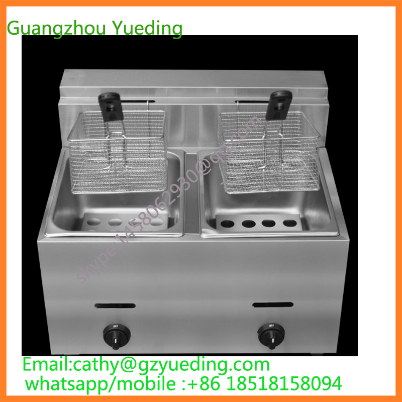Commercial Use Stainless Steel LPG Gas Deep Fryer for Churros French Fries Chicken Twister Spiral Tornado Potato 220v 12l electric deep fryer for spiral potato twister potato tornado potato fry potato churros chicken