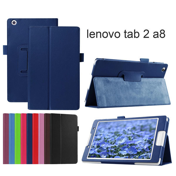 Protective Bag Folio PU Leather case for Lenovo Tab 2  A8-50LC Litchi Case Stand Cover For Lenovo Tab2 A8 8'' A8-50F Tablet ultra slim case for lenovo tab 2 a8 50 case flip pu leather stand tablet smart cover for lenovo tab 2 a8 50f 8 0inch stylus pen
