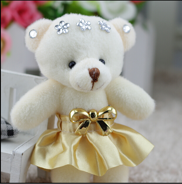 12cm Little Flower Teddy Bears Cute Teddy Bear Wedding