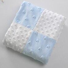 Lovely Stars Patterned Soft Flannel Swaddle Blanket