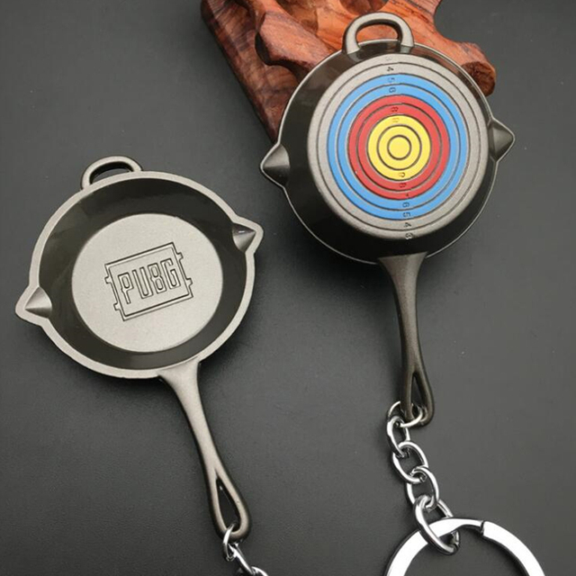 Game PUBG Level 3 Saucepan Keychain Pendant