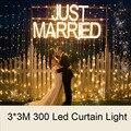 3 M * 3 M 300 led Carámbano Luces de Navidad de Hadas Cadena Boda Cortina Led para el Partido, Día de San Valentín del Día, día de fiesta, Decoración de Jardín