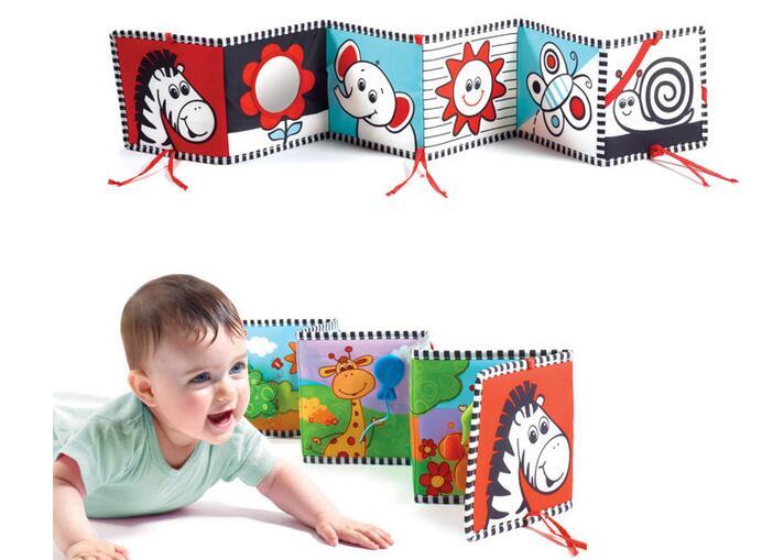 Candice guo! bebé suave juguete de desarrollo dual-sided primer libro estilo ceb