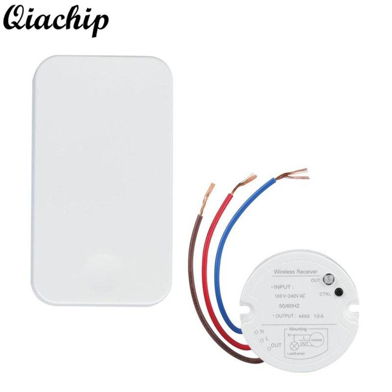 все цены на QIACHIP AC 110V 220V 433MHz Wireless RF Self-powered Remote Control Light Switch Receiver Module No Battery Transmitter DIY Kit
