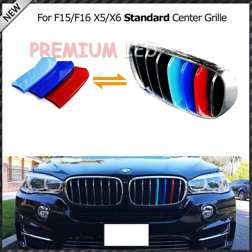 3шт точное соответствие ///М-Покрашенная решетка Вставка планки для BMW Х5 Ф15 Ф16 Х6 Центр почек Гриль