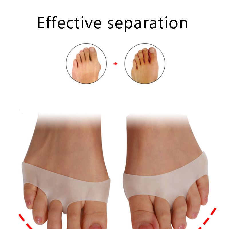 1Pair Foot Care Tools Sholl Gel Insoles For Shoes Bunion Corrector Valgus Toe Separator Cellular Breathable Orthopedic Sets