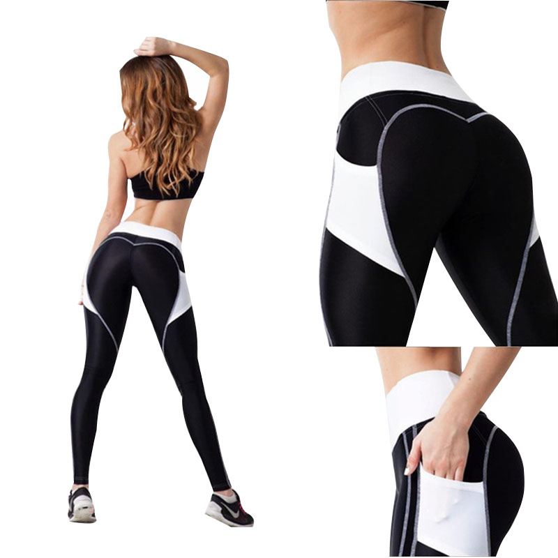 New Fashion Heart Leggings Women Fitness Workout Sporting Pants Breathable Elastic Waist Gyming Exercise Clothing For Women