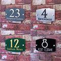 Подгоняйте номер дома знак свойства имя плиты современный стеклянный эффект домашний адрес табличка