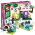 155 unids sy321 princesa serie meridas juegos de la montaña snow queen princesa castle building blocks ladrillo juguetes compatibles con lego