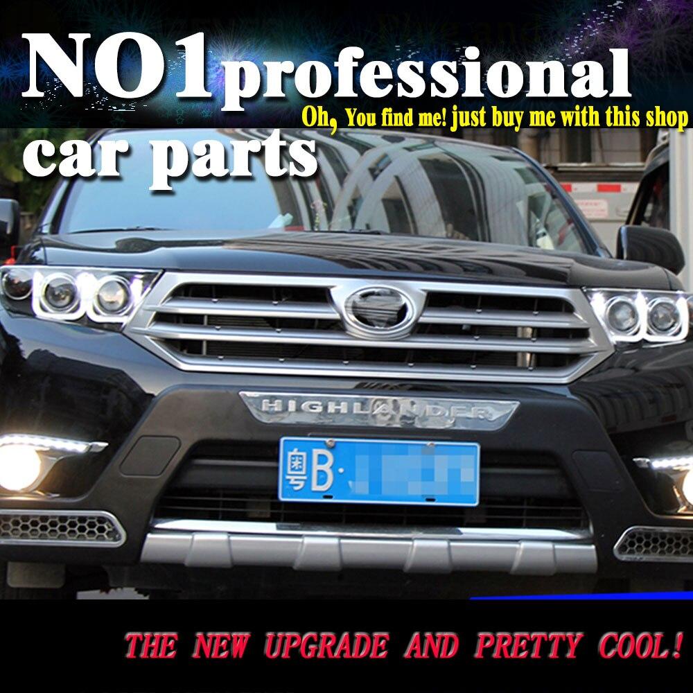 цена на Car Styling Lampever For Toyota Highlander headlights DRL 2012-2014 For Highlander LED light bar DRL Q5 bi xenon lens HID KIT