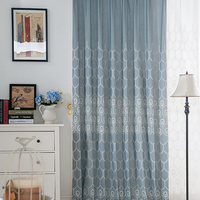 American Country Gauze Embroidered Linen Luxury Curtains For Living Room Bedroom Curtains And Tulle Modern Kids