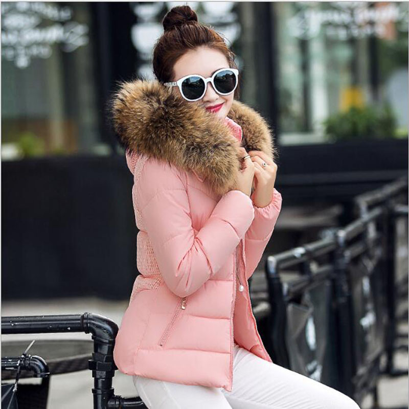 Col Dames pink Veste blue Femmes Rembourré Capuchon Red 3xl color White 2018 Coton À De Femme Mince Grand L Fourrure rembourré B091 black Pink color Chaude white Collar Black Hiver color Pour color Red SgqgXwx0