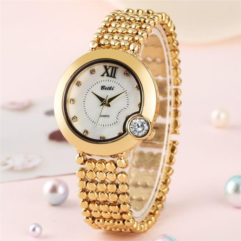 Quartz Watch Women Movement Rectangle Diamond-encrusted Wristwatch Luxury Alloy Band Hook Buckle Concise Uniqu часы женские