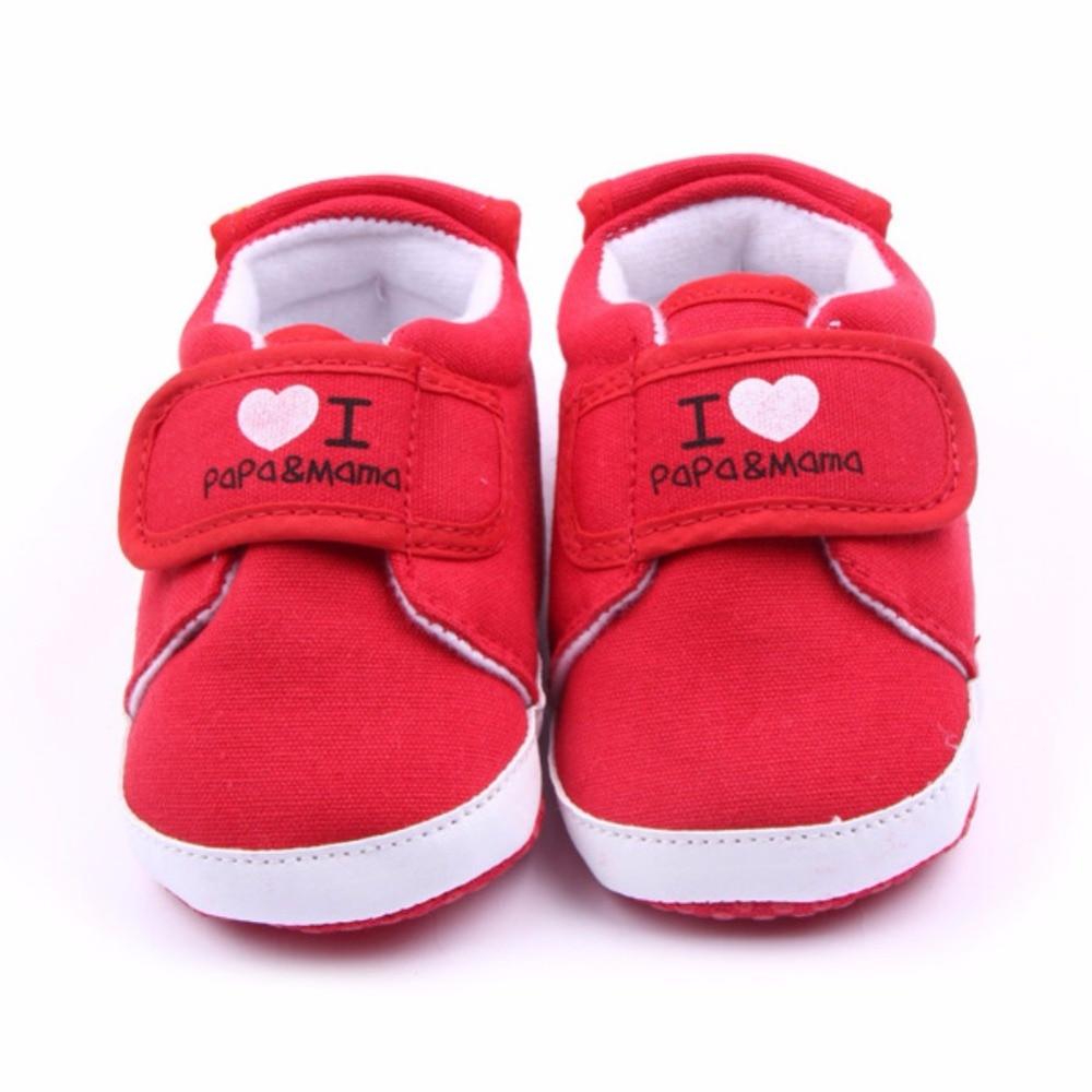 Più nuovo Amore Mama Papa Bambino Suola Morbida Scarpe Bambino Scarpe per bambini  Ragazzi Ragazze Firstwalkers Tela Sneakerborn Scarpa 64397b796bf
