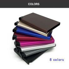 Wholesale New Brand Credit Card Holders RFID Aluminum Alloy Case Bank Wallet Popup Automatically Colourful Box
