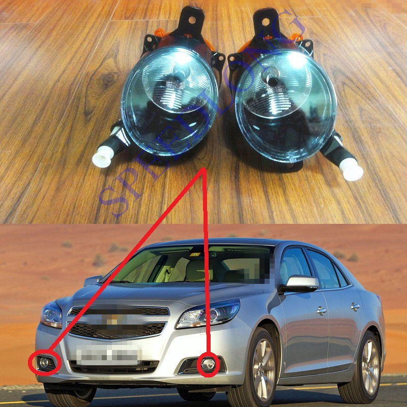 цена на 2 Pcs/Pair RH and LH Front bumper driving lights Fog Lamps for Chevrolet Malibu 2013-2015