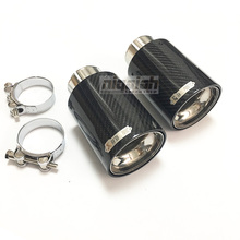 """One Piece TOP quality Akrapovice New Car Carbon Fiber Exhaust End Pipe Muffler Tips for BMW 2.5"""" in, 3.5"""" 4"""" out"""