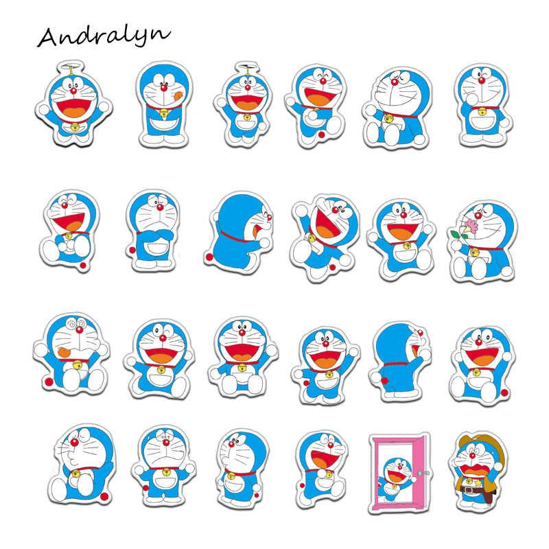 61 unids/set Doraemon Graffiti pegatinas para equipaje portátil refrigerador coche motocicleta juguete teléfono dibujos animados pegatinas