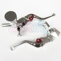 Silver Motorcycle Left&Right Hydraulic Brake & Clutch Master Cylinder Lever With Oil Pump Fit CRF KXF YZF WR RMZ EXC