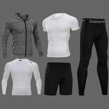 c06b8f00 Nuevos conjuntos de compresión para correr de hombre 3/4/5 unids/set trajes  deportivos de secado rápido de baloncesto medias rop.
