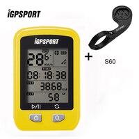 IGPSPORT IGS20E Equipo Ciclismo GPS Inalámbrico Wireless Bicicletas Cronómetro IPX6 Impermeable GPS Moto Velocímetro con S60 Montaje