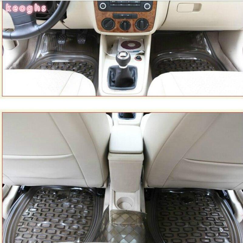 PVC UNIVERSAL car floor mats car mats auto mats black transparent FULL SET free shipping цена