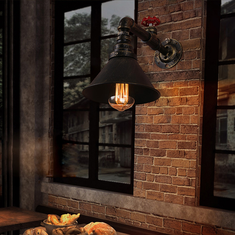 wall lamp vintage industrial retro lampara de pared Mirror Bathroom cafe bar Lights iron Sconces Indoor decoration Lighting modern acrylic led wall lights bedroom bedside wall lamp lampara de pared bed room decoration lighting wall sconces