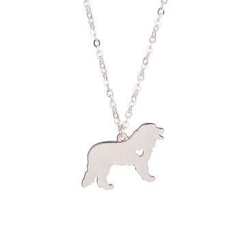 Moda Altın Gümüş Patlama Modelleri Sevimli Bernese Dağ Köpeği Kolye hayvan figürlü mücevherat Kolye Köpek Severler kadar Sevgili Arkadaşlar