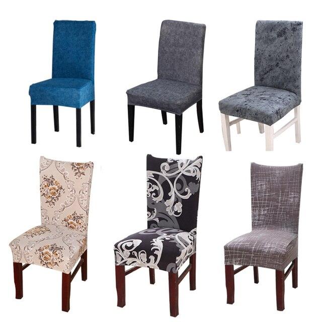 Накидка на стул из спандекса чехол современный Съемный Анти-грязный для кухонного стула чехол Чехлы на кресла стрейч для свадьбы Вечерние офисные
