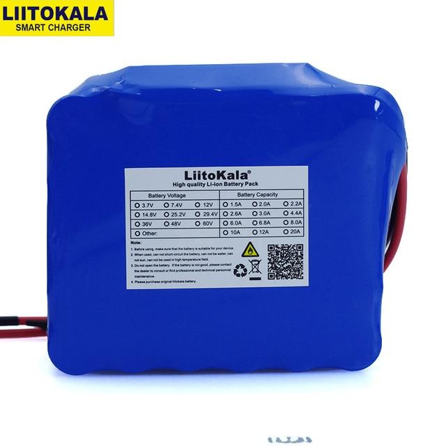 LiitoKala 12V 20Ah גבוהה כוח 100A פריקה סוללות BMS הגנת 4 קו פלט 500W 800W 18650 סוללה